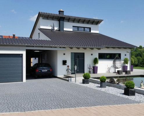 Einfamilienhaus mit doppelgarage modern  Haustechnik im EG Archive - Seite 9 von 10 - EG-Holzhaus.de
