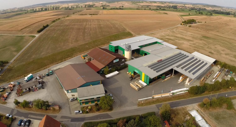 Luftbildaufnahme Firmengelände