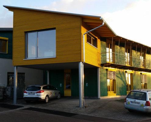 Anbau an Bürogebäude bei E&G in Schwebheim