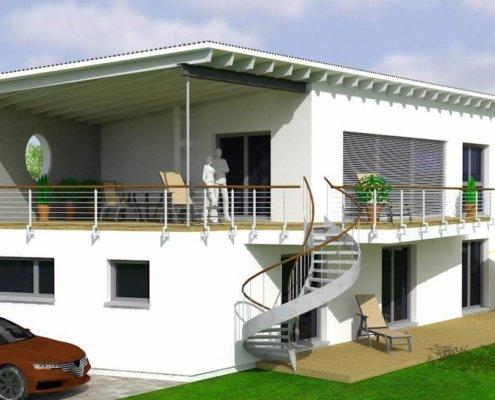 Einfamilienhaus mit Keller und Carport in Weinzierlein