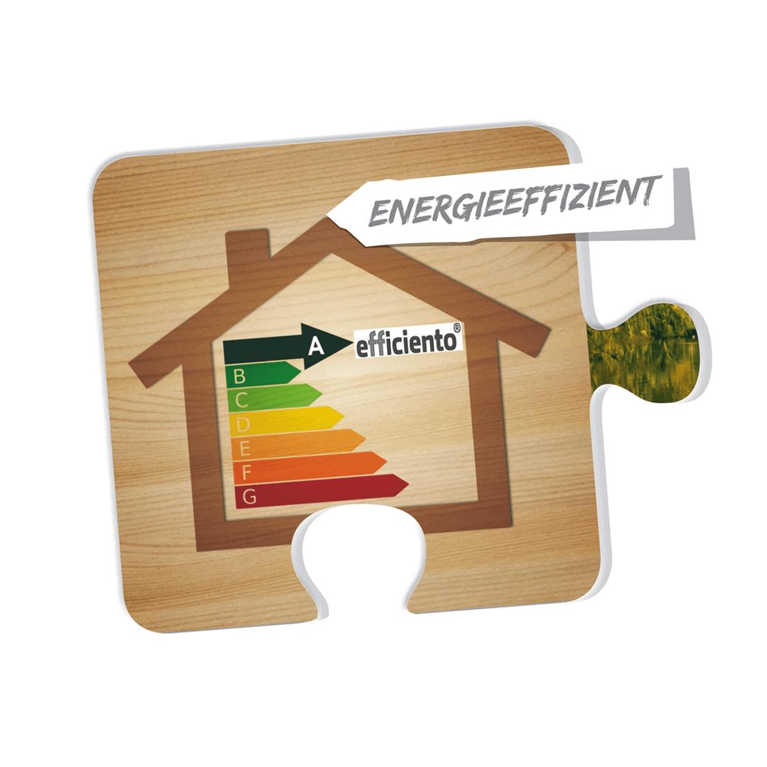 Energieeffizient Puzzleteil