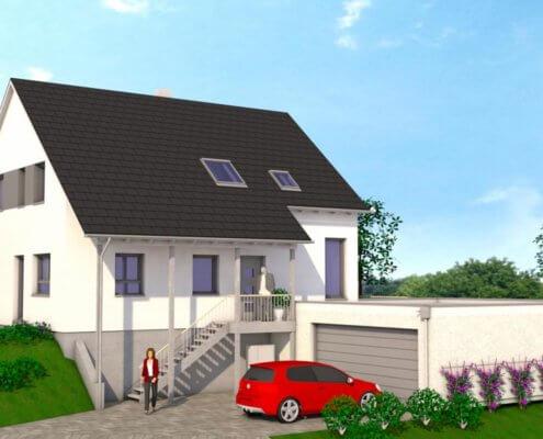 Einfamilienhaus mit Garage in Wiesenthau