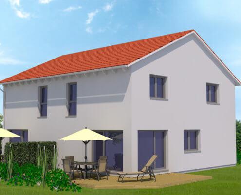 Zweifamilienhaus als Doppelhaushälften in Schnelldorf